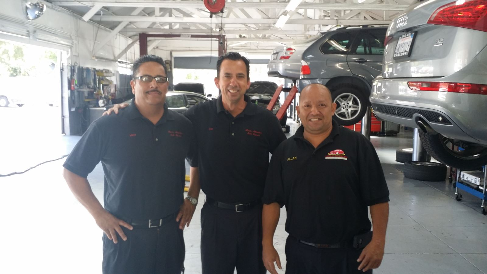 Managers: Left to Right - Mario, Dan, & Allan | Menlo Atherton Auto Repair